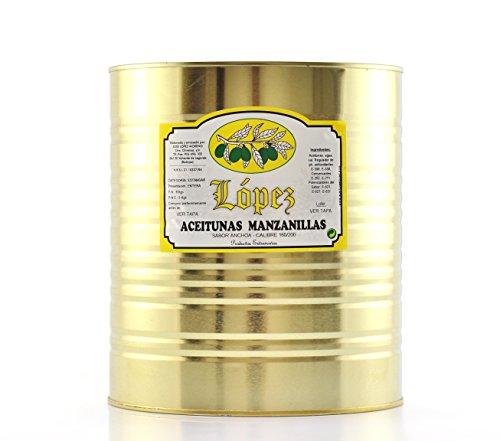 Lata Aceitunas Manzanillas Sabor Anchoa - 8 kg. Peso Neto | Envío Gratis