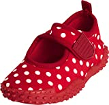 Playshoes UV-Schutz Aqua-Schuh Punkte 174776, Sandales mixte enfant - Rouge (TR-B1-Rouge-77), 24/25 EU