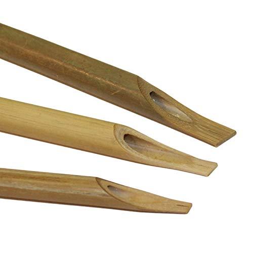 Arabische Kalligraphie, Bambus, Blätter, 3 Stück