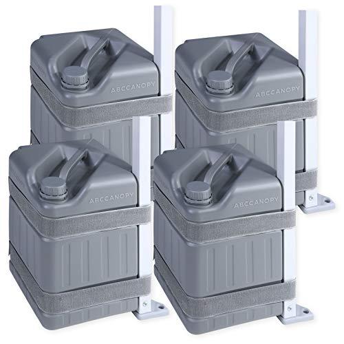 ABCCANOPY Universal Pavillon Gewichte Verbesserte Wassergewichte für Pop-up Pavillon Sofortzelte,Grau