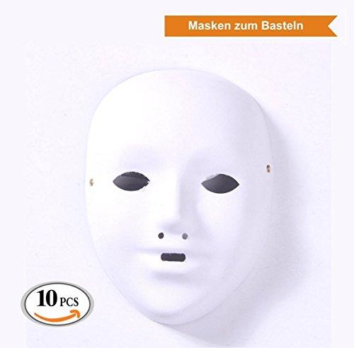 ZADAWERK Maske - Unbemalt - Kind - 10 Stück