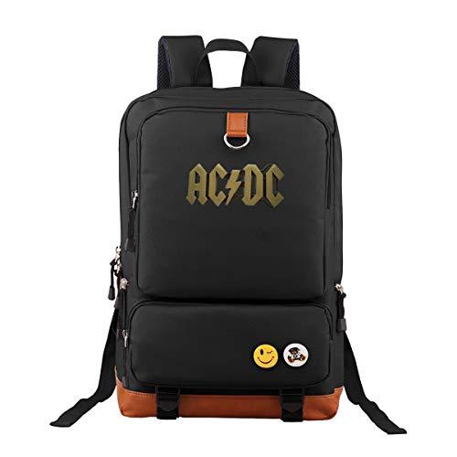 ACDC Oxford Rucksack Schulrucksack Laptoprucksack Für Herren Damen Jungen MädchenDaypacks