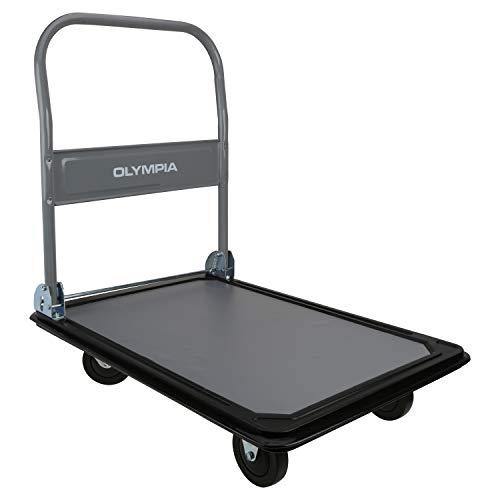 Olympia Tools - 660LB Capacity Platform Hand Truck (Gray/Black)