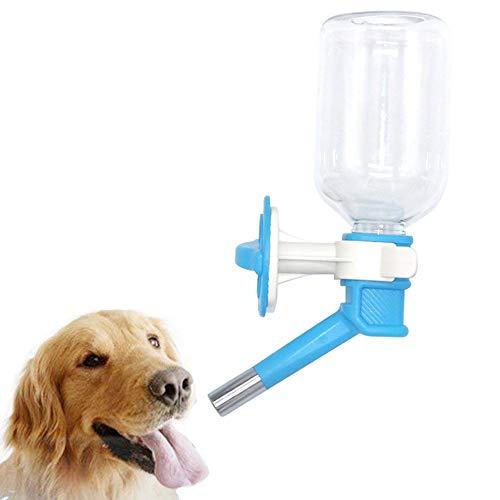 Wasserflasche zum Aufhängen für Hunde und Katzen,Wasserflaschen, installieren im Käfig oder in der Kiste, automatischer Wasserspender, geeignet für Hunde, Katzen, Kaninchen, Hamster(blau)