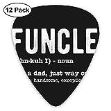 Púas de guitarra Fashion Funcle (paquete de 12) para guitarra eléctrica, guitarra acústica, mandolina y bajo de guitarra-44-42