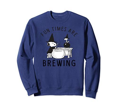Peanuts Halloween Fun times are brewing Sweatshirt