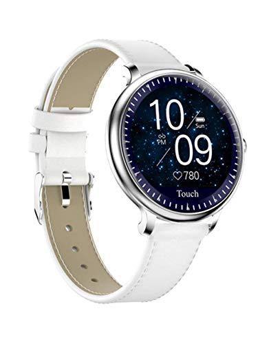 MYONLY NY12 Stilvolle Frauen Smart Watch Rundsieb Smartwatch Für Mädchen Heart Rate Monitor Kompatibel Für Android Und IOS,D