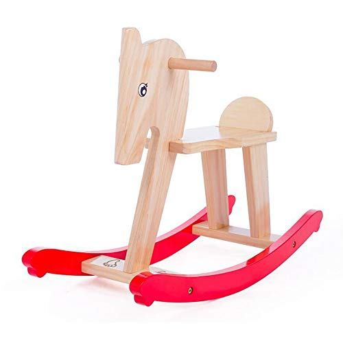 Review YUMEIGE Rocking Ride-Ons Wooden Rocking Horse Children's Swing Toy,Toddler Rocking Horse Solid Wood,1-5 Years Use ,Rocking Horse Kids Toys 27.5 × 8.8 × 16.9inch Load 70kg