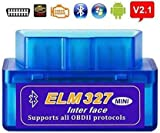 Super Mini ELM 327 V2.1 OBD2 Bluetooth Auto Car Scanner Diagnostic Tool OBD Interface OBD Reader