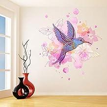 Kolibri Muursticker - Colibri Art Decor Humming Bird Leuke Kleurrijke Home Decal Gift - Waterdicht Vliegende Tropische Exo...