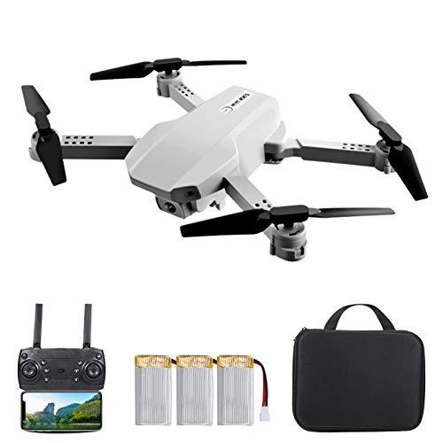 OWSOO Drone KK5 RC com Câmera 4K Wifi FPV Drone de Câmera Dupla Mini Brinquedo Quadcóptero Dobrável para Crianças com Controle do Sensor de Gravidade Modo sem Cabeça Gesto Foto Vídeo Função