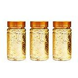 SUPVOX 3 pezzi imitazione foglia oro fiocchi doratura fiocchi carta stagnola dorata per doratura pittura artigianato unghie fai da te e decorazioni per la casa (dorato)