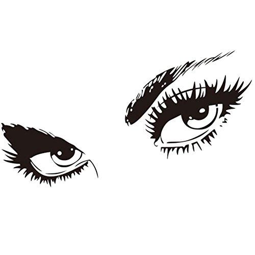 Vi.yo autocollant mural avec des yeux design décoration stickers muraux pour salon café maison boulangerie bar