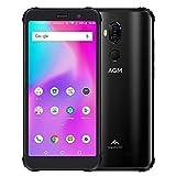 Jiangpp Portable Prepayes Déverrouillé Smartphones X3 Robuste Téléphone, 8 Go + 256 Go, IP68 étanche Anti-poussière Anti-Choc, ID Visage et Identification par Les Empreintes, 4100mAh Batterie, 5,