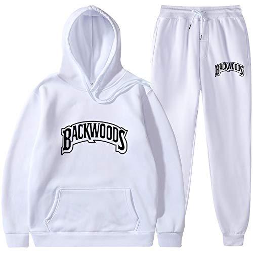 MLKUP Backwoods HoodieHoodie Letra Impresa con Capucha Moda Sudadera con Capucha Estampado Casual Traje Deportivo L