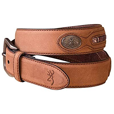 Mens Genuine Leather Belt with Mossy Oak Camo Insert (Mens 34 US)