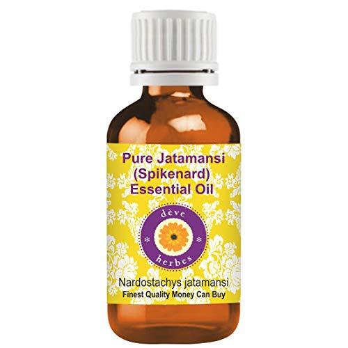 Deve Herbes Pure huile essentielle de Jatamansi (Spikenard) (Nardostachys jatamansi) 100% naturelle de qualité thérapeutique distillée à la vapeur 100ml (3,38 oz)