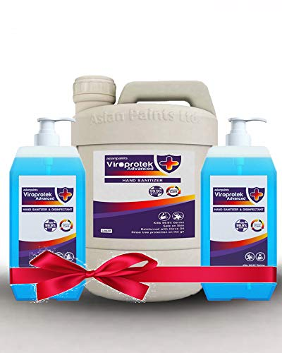 Asian Paints Viroprotek Advanced Hand Sanitizer (Combo Pack 2) 500ml With 5 litre Refill Can (1 Quantity)