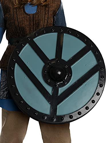 Funidelia   Escudo de Lagertha - Vikings Oficial para Hombre y Mujer ▶ Vikings, Vikingos, Bárbaro, Nórdico - Color: Azul, Accesorio para Disfraz - Licencia: 100% Oficial