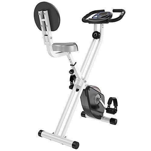 HOMCOM Heimtrainer Fahrradtrainer mit 8 stufig einstellbarem Magnetwiderstand höhenverstellbar Stahl Schwarz 43 x 97 x 109 cm
