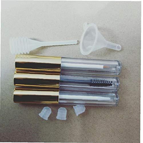 Tubo de vacío Mascara de pestañas con la botella Varita Crema de contenedores brillo de labios mini embudo de transferencia de pipetas Kit para Aceite de ricino bricolaje Cosmética Cuidado Lash