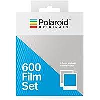 Polaroid Originals 4844 - Set de películas Tipo 600 (1 Paquete Color, 1 N&B) Marco Blanco