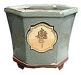 DWhui Bacino Stile Gres creativi Ceramica Cinese Bonsai pianta Verde Grande Ceramica Wenzhu Carne Nera Retro Vaso da Fiori