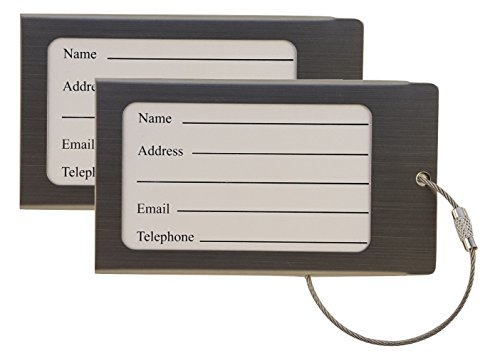 Stainless Steel Luggage Tag Business Card Holder (2 Pack)