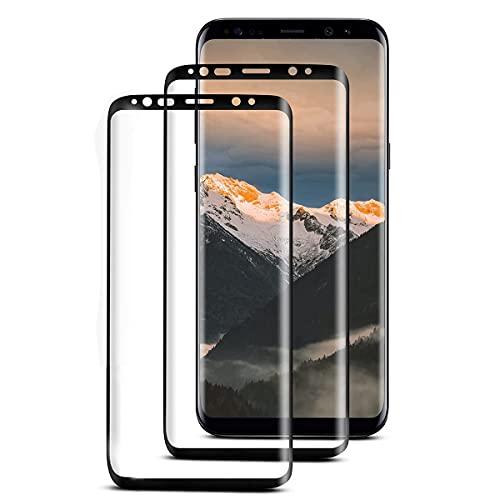 [2 Stück] Panzerglas Schutzfolie Kompatibel mit Samsung Galaxy S8, HD Displayschutz, 9H Härte, Ultra-Klar, Anti-Bläschen, Blasenfreie, Schutzfolie für Samsung S8