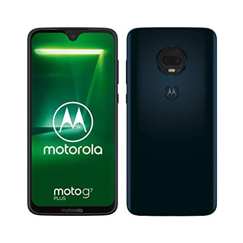Motorola Moto G7 Plus - Smartphone Android 9, 6.2'' FHD+ MAX Vision, 16MP, Selfie 12MP, 4GB RAM, 64 GB, Dual SIM, Blu Índigo
