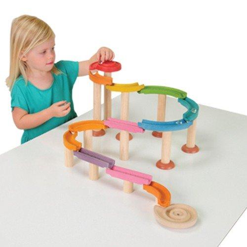 Constructive Playthings KRP-643 Virginia Beach Mall Deluxe Marble pc. 30 trust Set Inc Run
