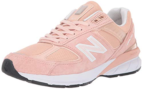 New Balance Women's Made in US 990 V5 Sneaker, Pink/White,...