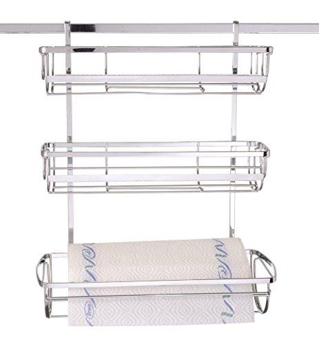 Wenko Porte-Rouleau essuie-Tout 2810100 Basic 3 en 1–pour Super loc- ou Power loc-Barre de Suspension chromé - 36 x 44 x 19 cm