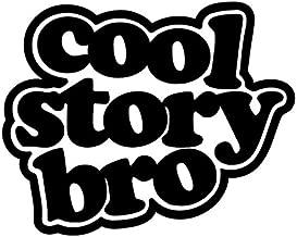 CCI Cool Story Bro Funny Decal Vinyl Sticker Cars Trucks Vans Walls Laptop Black  5.5 x 4.25 in CCI1773