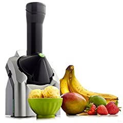 "Fruit soft serve machine: Easily create yummy vegan tasting treats by adding any combination of chocolate, or fruits like over-ripe bananas, berries, or mango to the chute for a smooth ""ice-cream"" like taste. Healthy goodness: With Yonanas, you can i..."