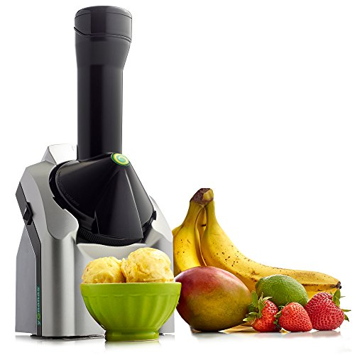 Yonanas Classic Original Healthy Dessert Fruit Soft Serve Maker Creates Fast Easy Delicious Dairy Vegan Alternatives to Ice Cream Frozen Yogurt Sorbet Includes Recipe Book BPA Free, 200-Watt, Silver