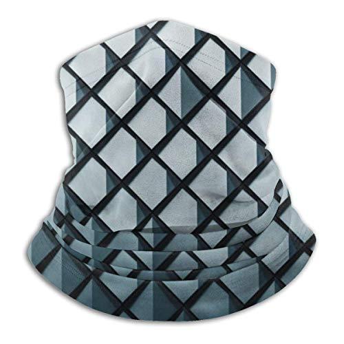LREFON Pañuelo de Cuello de Textura Negra, pasamontañas más cálido para Hombres, Mujeres, protección contra el Polvo del Viento y el Sol