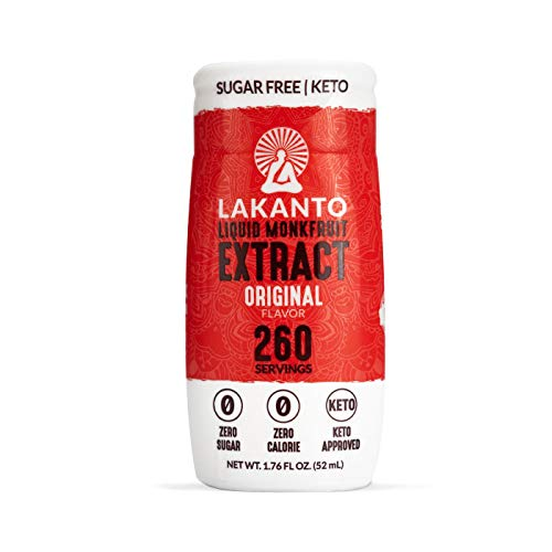 Lakanto Liquid Monkfruit Extract Sweetener, Sugar-Free Keto Drops, 1.85 Fl Oz (Original - Pack of 1)