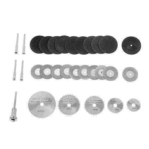 Hojas de sierra circular de diamante HSS de 30 piezas Discos de corte y mandriles para herramientas rotativas para amoladoras angulares