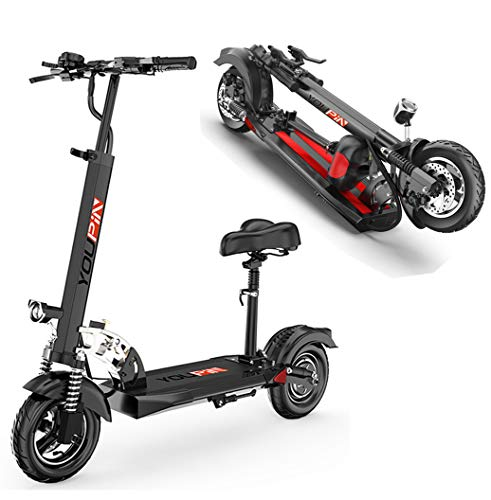 Doo Scooter eléctrico, Motor De 500 W, Batería De Iones De Litio De 48 V / 10,4 Ah, Velocidad Máxima De 35 Km/H, con Pantalla LCD, Interfaz USB Que Puede Cargar Teléfonos Móviles