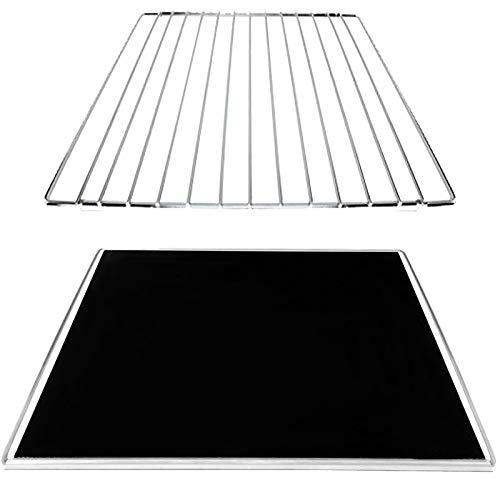 SPARES2GO Bandeja de goteo extensible para hornear + estante ajustable compatible con horno Bosch