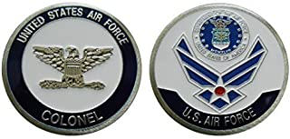 """Air Force Officer Ranks - Colonel """"O - 6"""" Challenge Coin / Logo Poker / Lucky Chip"""