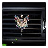 車の自動エアコンアウトレットベントエア香水クリップの妖精のスタイルの車の芳香剤香水瓶の拡散器 (Color Name : Gold)