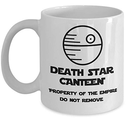 Star Wars Kaffeetasse - Death Star Kantine Eigentum des Imperiums nicht entfernen - Darth Vader Anakin Skywalker dunkle Seite der Macht - Einzigartige lustige Original 11 Unzen Geschenkzubehör Tasse