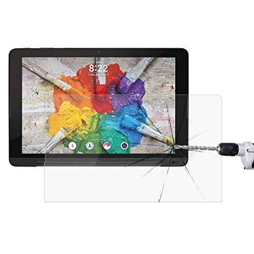SHISHUFEN Protector de pantalla de cristal templado para LG G Pad III de 10,1 pulgadas, dureza de superficie 9H.