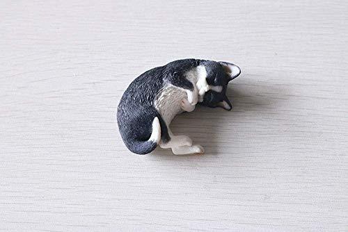 ZYL-YL Estatua de animales Decoración Escultura Adornos Estatuas Dormir Gato Simulación Gatito Modelo Mascota Gato Resina Decoración Lindo Coche Accesorios Regalo