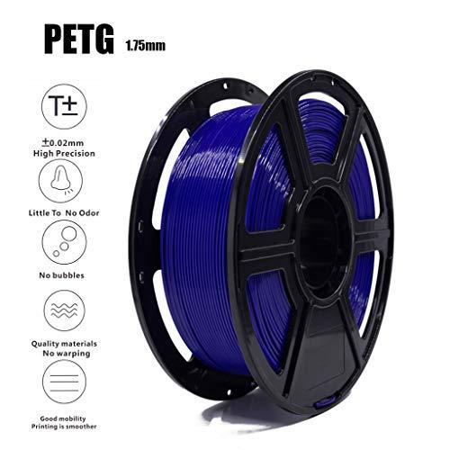PETG Filament 1.75mm, Blue 3D Filament 1KG(2.2lb), 3D Printing Filament PLA Accuracy +/- 0.02 Mm,Non-Toxic Eco-Friendly Consumables for Most 3D Printers