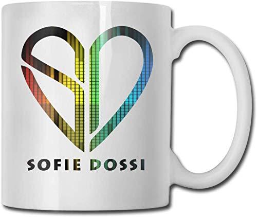 Sofie Dossi - Taza de café divertida, taza de té de cerámica para oficina/hogar, regalo divertido