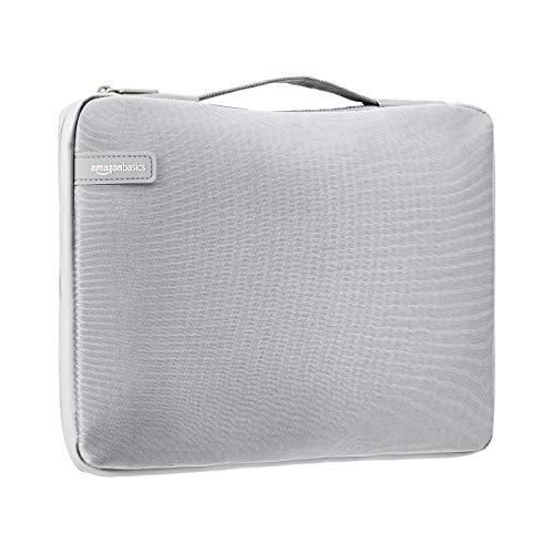 Amazon Basics - Professionelle Laptop-Hülle (mit einziehbarem Griff), für Laptops bis 39,62 cm - grau