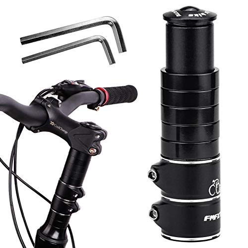 DESON Fahrrad Gabelschaft Extender Lenkererhöhung Gabelschaftverlängerung mit 2 Kleinen Inbusschlüssel Vorbau Verstellbar Höhen Adapter für Fahrrad Mountainbike